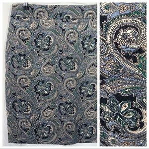 Ann Taylor | Paisley Pencil Skirt